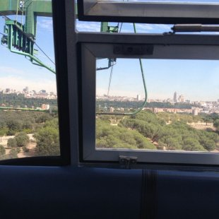 In Teleferico Car Looking Towards The City