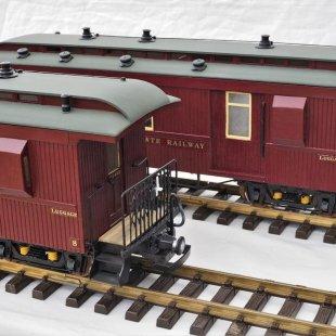 Claptowte Railway Passenger Coaches N0 8 & No 9